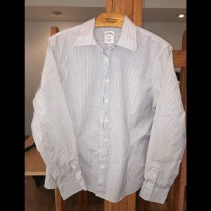Brooks Brothers pinstripe fitted shirt